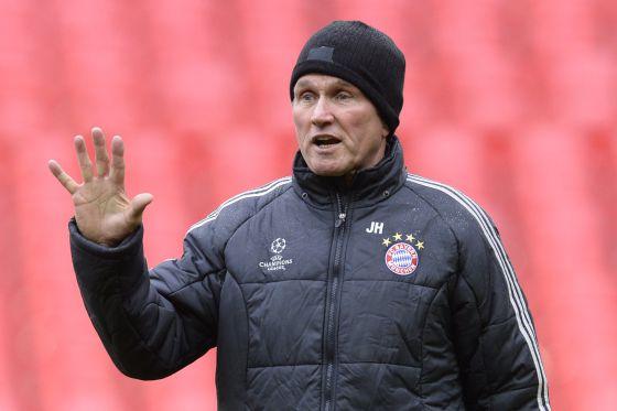 Heynckes, durante el entrenamiento del Bayern de cara a la final de 'Champions'.