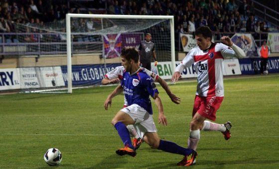 Un momento del Guadalajara-Huesca de la temporada pasada.