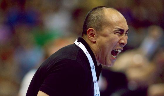 Talant Dujshebaev, entrenador del Atlético de Madrid de balonmano.
