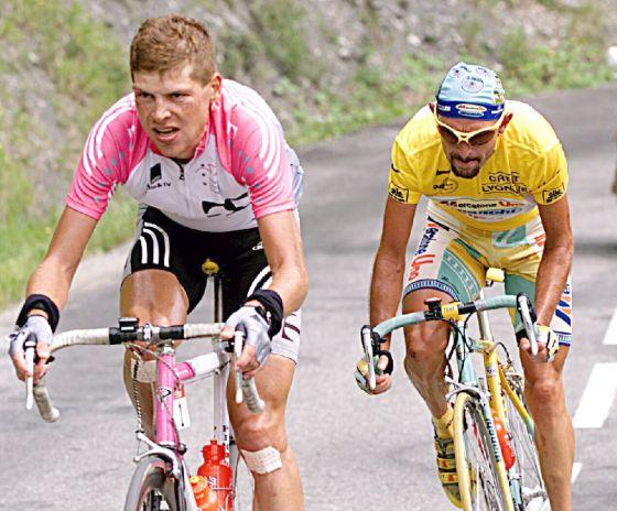 Ullrich y Pantani, en el Tour de 1998.