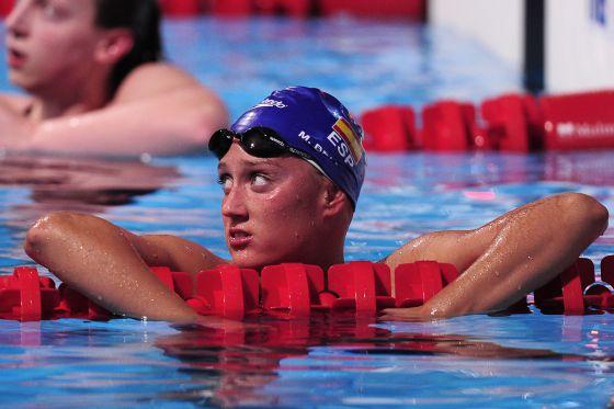 Mireia Belmonte, tras acabar la carrera de los 1.500