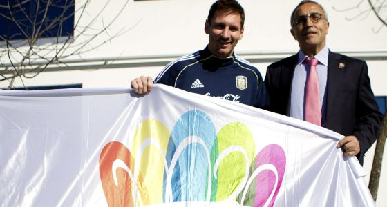 Alejandro Blanco, en Buenos Aires junto a Messi