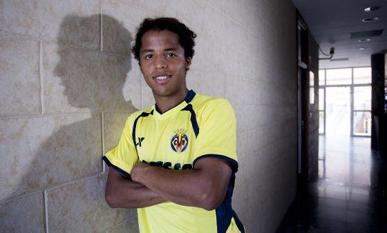 Giovani dos Santos, el pasado jueves en la ciudad deportiva del Villarreal.