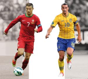 Compare los números de los dos jugadores con sus respectivas selecciones y clubes.