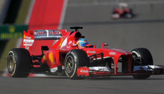 Fernando Alonso, durante el GP de Estados Unidos