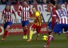 Atlético y Barça no se dejan un milímetro