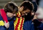 Neymar se daña el tobillo derecho