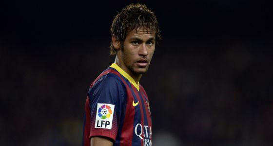 Neymar durante el último partido de Liga.