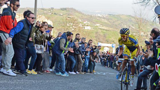 Contador, durante la quinta etapa de la Tirreno-Adriático.