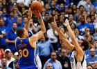Stephen Curry pone en apuros a Nowitzki y Calderón