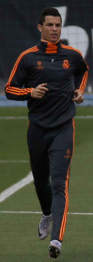 Cristiano Ronaldo durante el último entrenamiento.