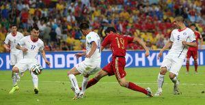 Remate de Diego Costa.