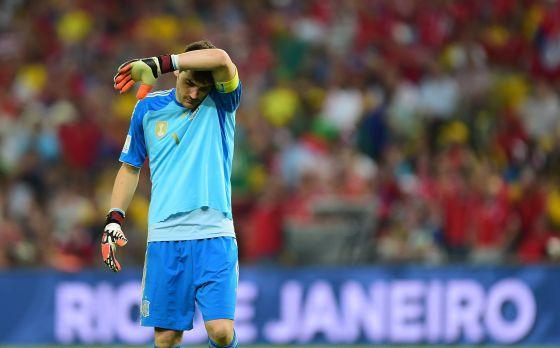 Casillas, en el partido contra Chile.