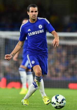 Cesc, durante un partido con el Chelsea.