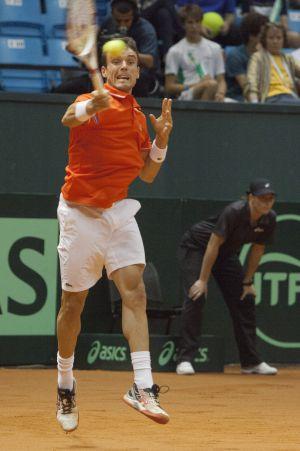 Roberto Bautista, en la eliminatoria contra Bellucci.