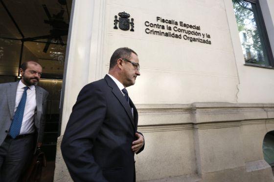 Agapito Iglesias, expropietario del Zaragoza, tras su declaración.