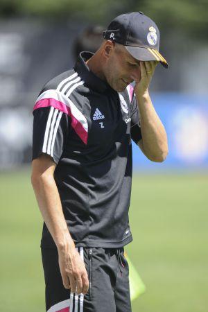Zinédine Zidane, durante un partido con el Castilla.
