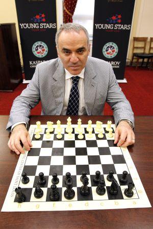 Gari Kaspárov en un congreso de ajedrez celebrado en junio en Washington.