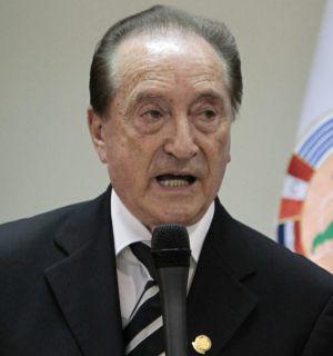 El presidente de Conmebol, el uruguayo Eugenio Figueredo