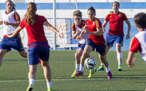 Copa mundial femenina 2015 entrenamiento de la selecci 243 n espa 241 ola