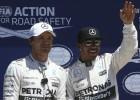 Hamilton y Rosberg copan la primera línea