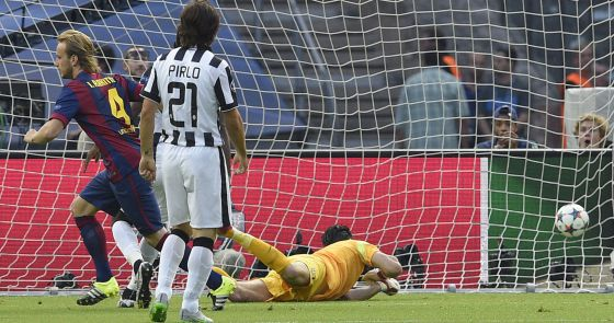 Rakitic marca el primer gol de la final de Champions