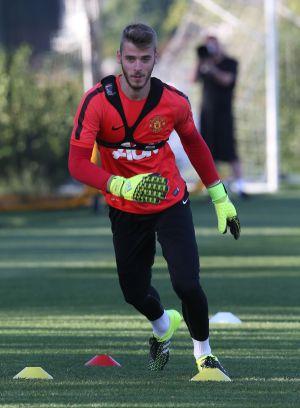 David de Gea se entrena con el United.