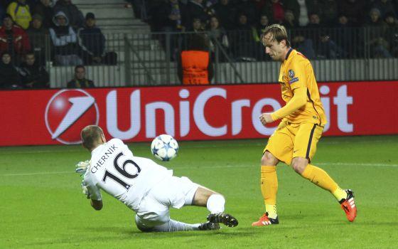 Rakitic marca su segundo gol ante el BATE Borisov