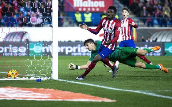 Thomas celebra su gol al Levante.