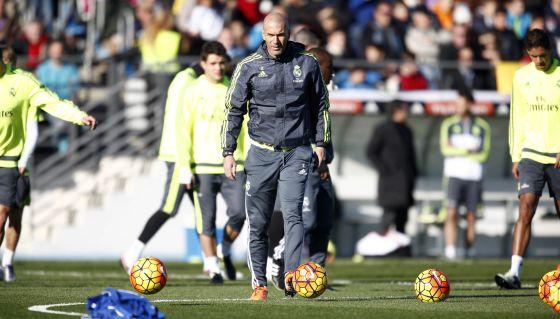 Zidane, en un partido del Castilla en diciembre.