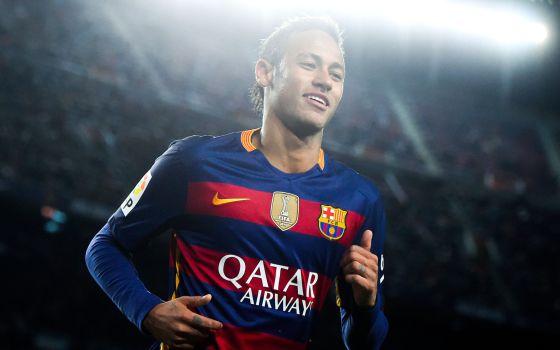 Neymar, en el último derbi