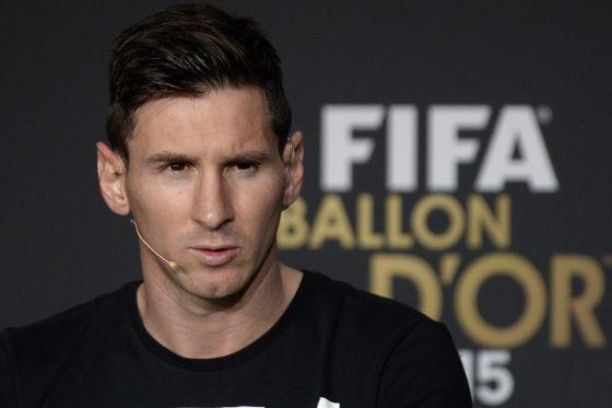 Messi, en la rueda de prensa previa a la ceremonia.