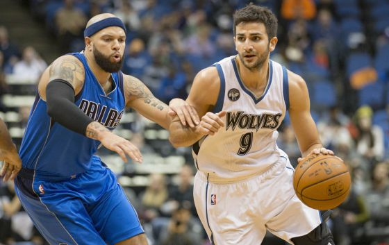 Ricky Rubio y Deron Williams.