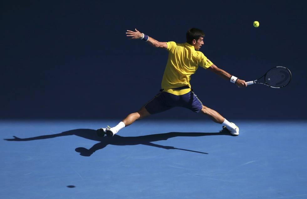 Djokovic, durante el partido contra Hyeon Chung.