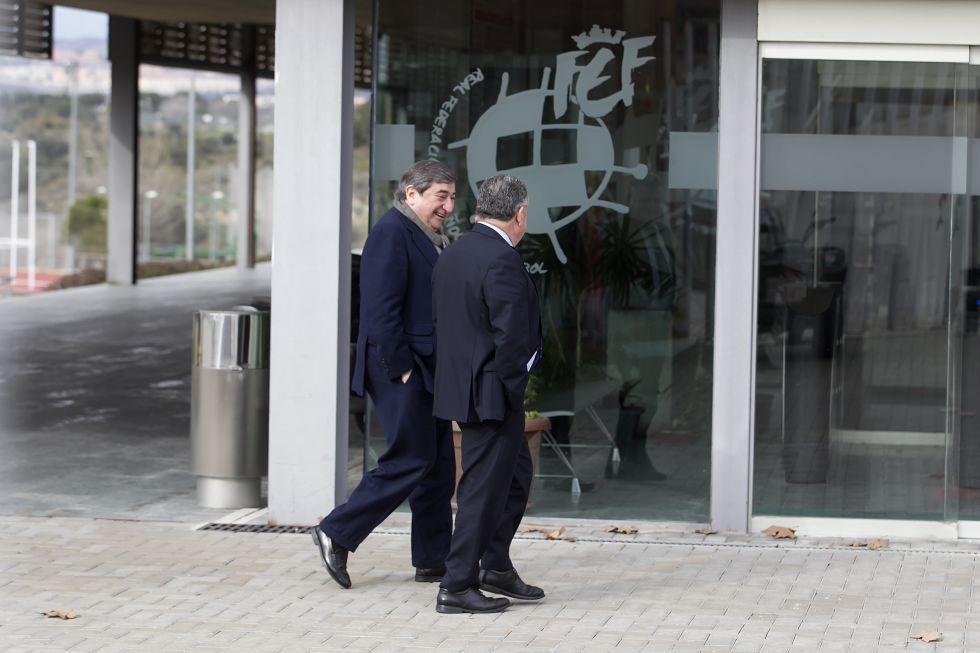 Lendoiro, a su llegada a la Federación Española de Fútbol