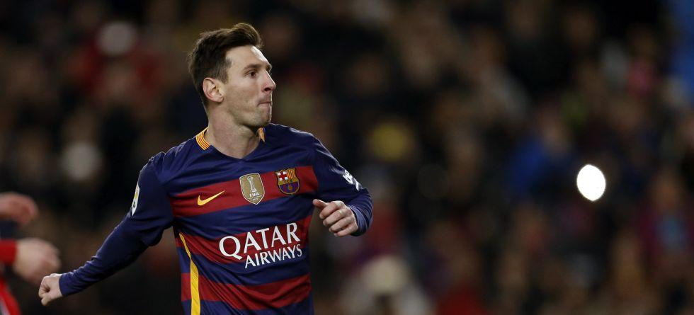 Messi, en el último encuentro ante el Athletic.
