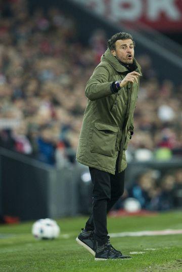 Luis Enrique, durante el partido.