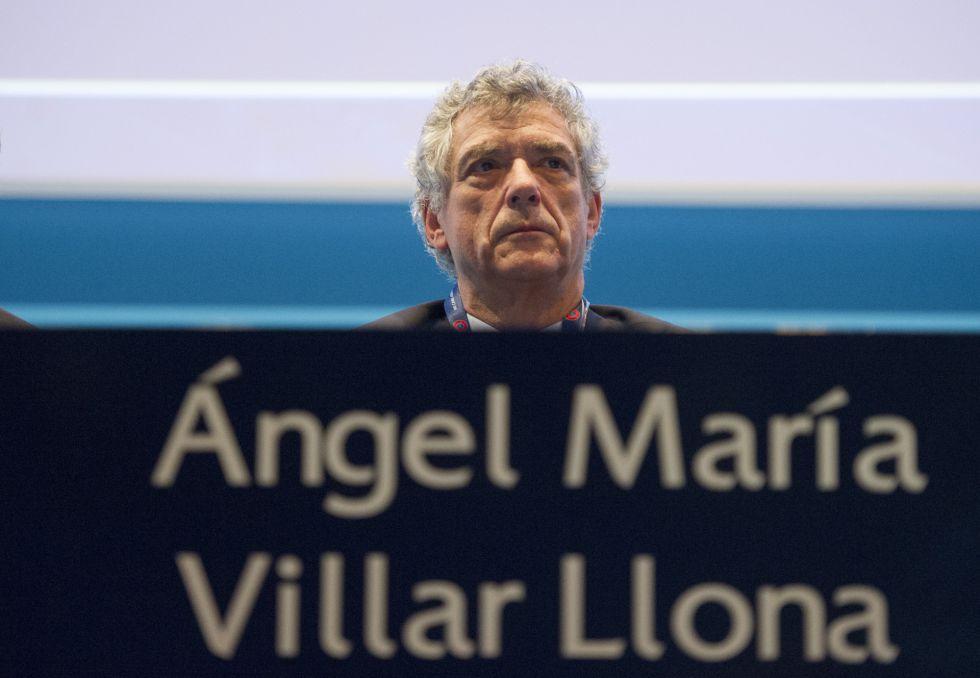 Angel Maria Villar en un congreso de la UEF el pasado marzo.