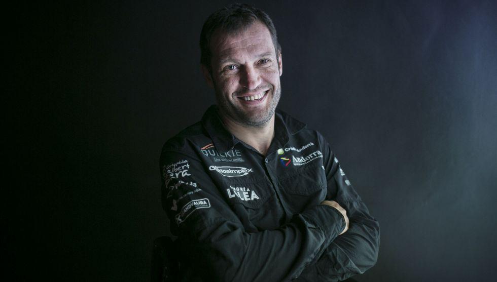 Albert Llovera, piloto del Dakar.
