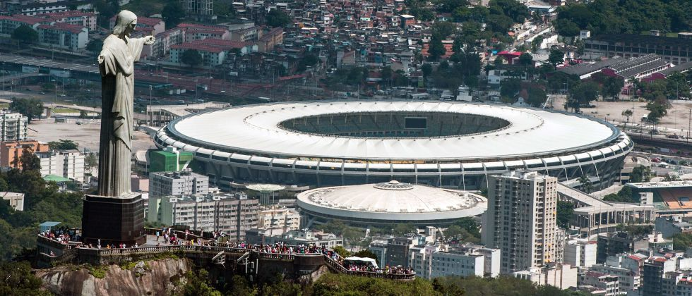 Vista del estadio de Maracaná