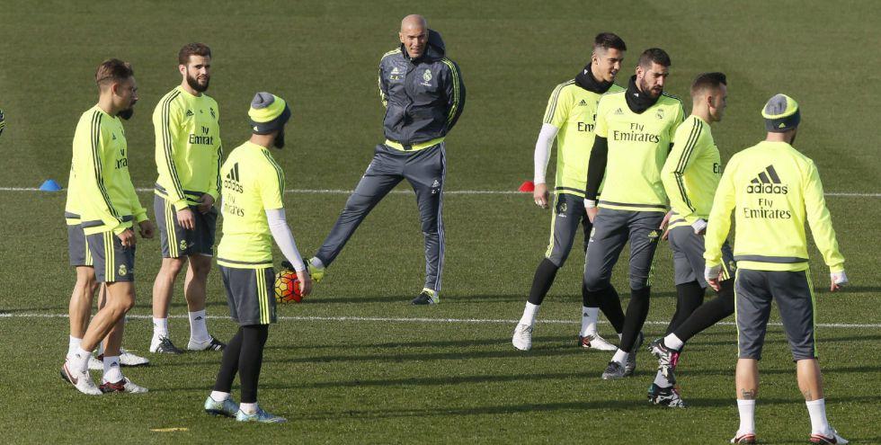 Zidane, en el último entrenamiento previo al partido contra el Betis