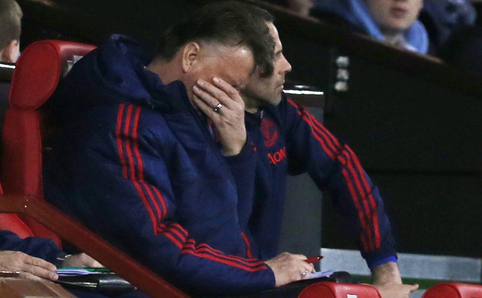 Van  Gaal, en el partido ante el Southampton.
