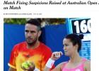 Suspendidas las apuestas de un dobles mixtos en Australia