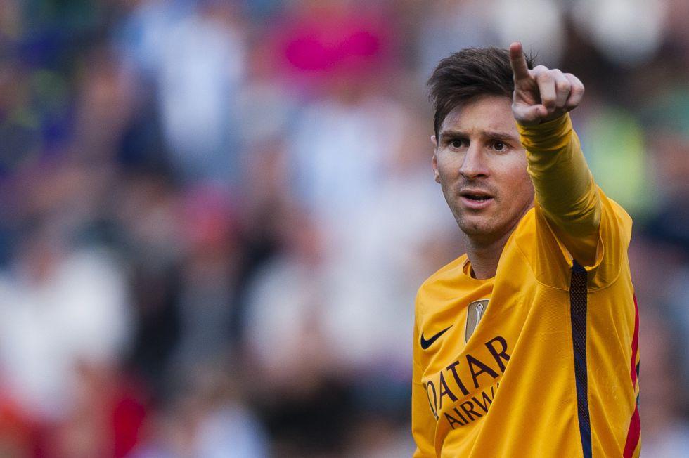 Messi, en el último partido del Barça en Málaga.