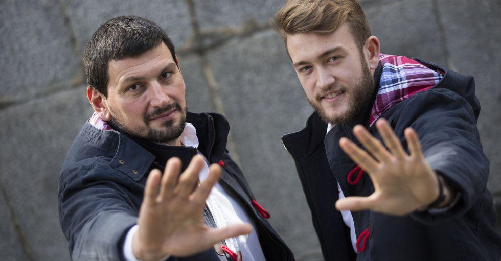 Sterbik y Gonzalo posan en la sede del CSD, en Madrid.