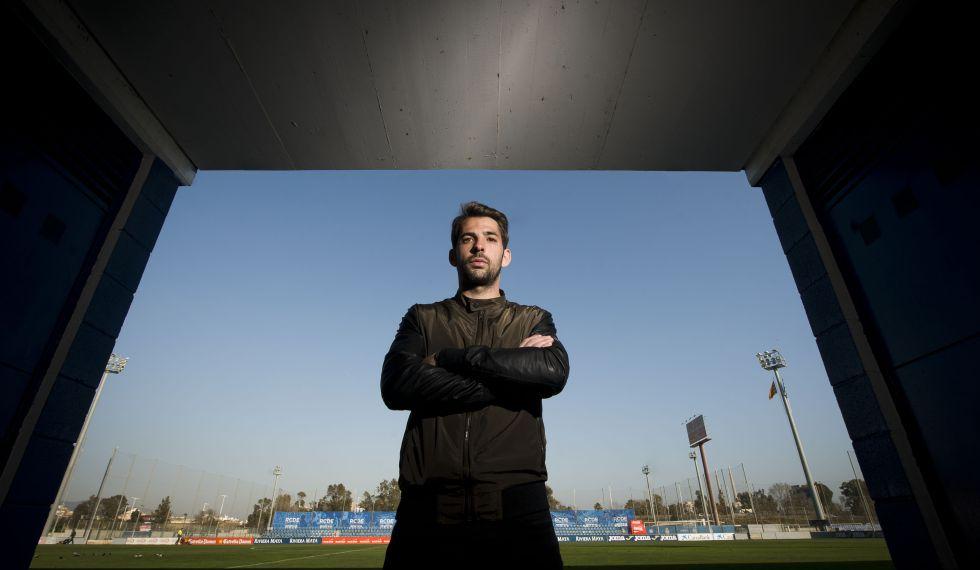 Víctor Sánchez, en la ciudad deportiva del Espanyol.