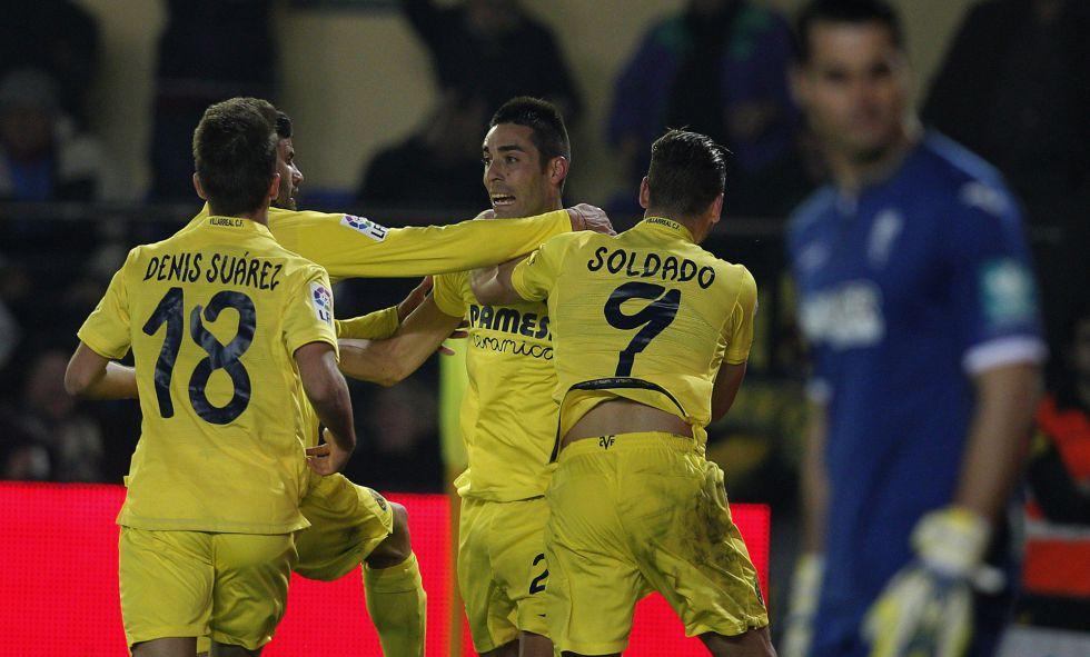 Bruno celebra su gol al Granada.