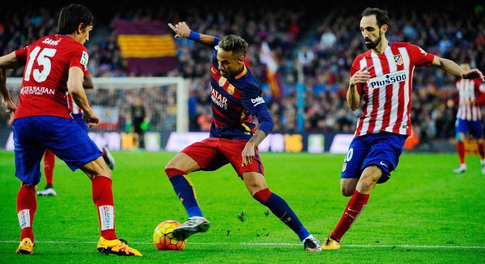 Neymar, durante el Barça-Atlético del pasado sábado.