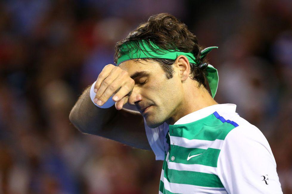 Roger Federer durante la semifinal de Australia ante Djokovic.