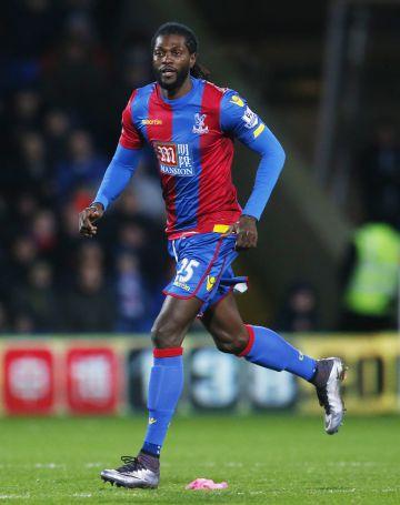 Adebayor, en su estreno con el Crystal Palace.